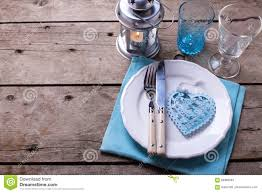 summer table setting decorative heart knife and fork on white