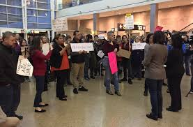 halloween horror nights the purge protests at sea tac airport after immigration executive order knkx