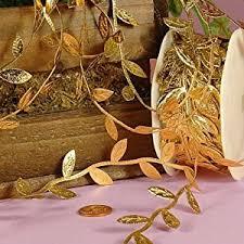 leaf ribbon gold leaf ribbon 1 1 4 x 10yd