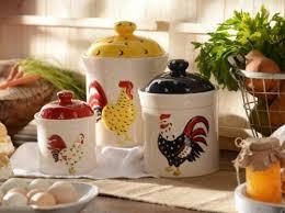 ceramic rooster canister set of 3 kirklands