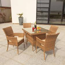 Egg Bistro Chairs Elegant Black Finish Outdoor Resin Wicker Furniture Set Features