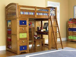 Childrens Bunk Bed With Desk Wooden Bunk Beds With Desk Ideas With Regard To Childrens Loft Bed