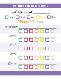 Menu Planner With Grocery List Template 21 Day Fix Meal Planner Grocery List Workout Pinterest