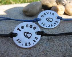 his and hers engraved bracelets couples bracelets personalized bracelets handsted