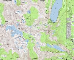 Map Of The South Map Lake Aloha Desolation Wilderness