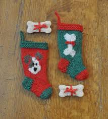 Knitted Christmas Stocking Tree Decorations by Dog And Cat Knitted Christmas Stocking Ornaments Knitting
