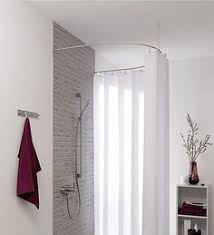 D Ring Shower Curtain Rod Used Black Iron Piping To Create A Shower Curtain Rod That