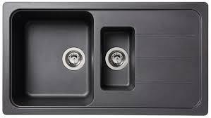 evier de cuisine noir granit noir arber 1 cuve 1 cuve brico dépôt