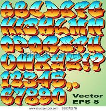 graffiti numbers stock images royalty free images u0026 vectors