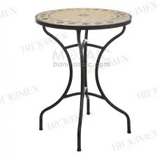 Garden Bistro Table Metal And Ceramic Mosaic Table For Outdoor Garden Triquimex