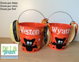 halloween bucket personalized halloween trick or treat metal