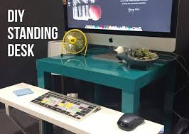 Standing Desk Diy by Diy Standing Desk Ikea Hack 40 Designsellout