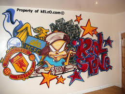 Graffiti Bedroom Manchester Red Stone   Uk Graffiti Artist - Graffiti bedroom