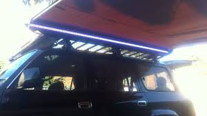 Ironman Awning L E D Light Strip On Arb Awning On 80 Series Landcruiser Youtube