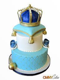 royal crown on pillow baby shower cake cmny cakes