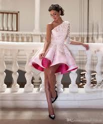 occassion dresses cocktail dresses 2017 lace satin one shoulder