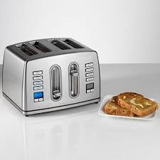 Motorised Toaster Cuisinart Cpt445u 4 Slice Brushed Stainless Steel Digital Toaster