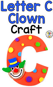 how to make a letter c clown craft for letter of the week