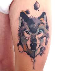 watercolor wolf tattoo designs ideas and meaning tattoos for you