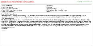 sample nurse practitioner cover letter file info nurse