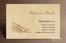 Business Card Music Classical Music Diomioprint