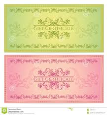 Free Cheque Template Gift Certificate Voucher Coupon Template Royalty Free Stock