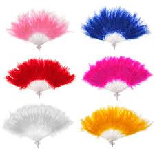 feather fan wholesale new women feather fan props wedding hen party
