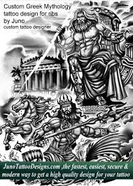 greek mythology tattoo zeus tattoo poseidon tattoo how to