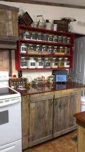 country kitchen rustic cabinets and the shelf with the clear