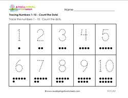 numbers worksheets trace and write numbers a wellspring
