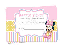 baby shower raffle baby minnie baby shower raffle tickets raffle tickets