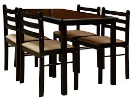 nitraa augusta four seater dining table brown amazon in home