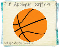 sports applique template basketball applique pattern boys