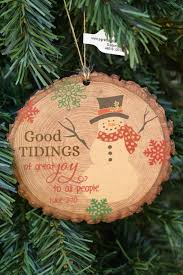 wood slice ornament from family christian stores ad