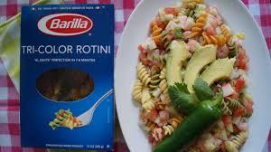 mexican shrimp salad with barilla tri color rotini spicy latina mom