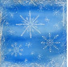 snowflake doodles on a watercolor background my flower journal