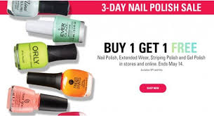sally beauty supply buy one nail polish get one free through