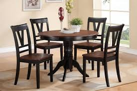 Contemporary Kitchen Contemporary Kitchen Table And Chairs Small - Black dining table with cherry top