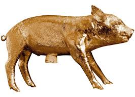 amazon com areaware bank in the form of a pig gold chrome home