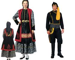 traditional costumes aristotle tourist guide