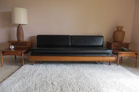 Modern Daybed With Trundle Mid Century Modern Style Sofa Daybed Rollout