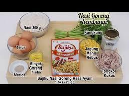 cara membuat nasi goreng untuk satu porsi dapur umami nasi goreng sembunyi youtube