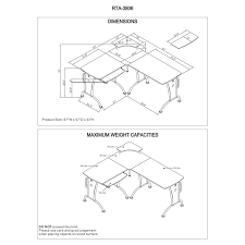 L Shaped Desk Dimensions by Electric Lshaped Base Left Return Electric Lshaped Base Left