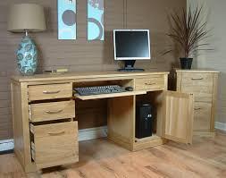Pedestal Computer Desk Oak Computer Desk Uk Contemporary Oak Computer Desk Pedestal