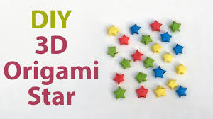 3d origami beginner tutorial easy 3d origami star for beginners diy how to make paper star