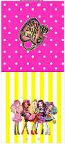 Free Printable Halloween Candy Bar Wrappers by Ever After High Yellow And Pink Free Printable Candy Bar Labels