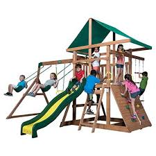 Best Backyard Swing Sets by 11 Best Outdoor Playsets And Swingsets For Kids In 2017