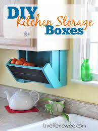 Under Cabinet Kitchen Storage by Diy Kitchen Storage Boxes