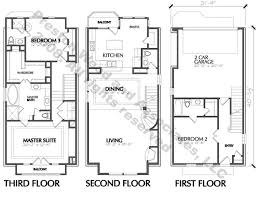 residential blueprints plans townhome blueprints narrow residential town house building