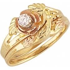 gold wedding set black gold jewelry g4427ew mt rushmore gold s black